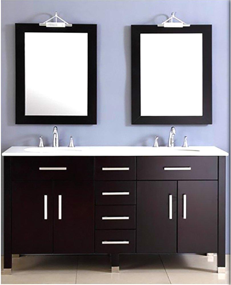 Amazoncom 72 Inch Espresso Double Basin Sink Bathroom Vanity Set