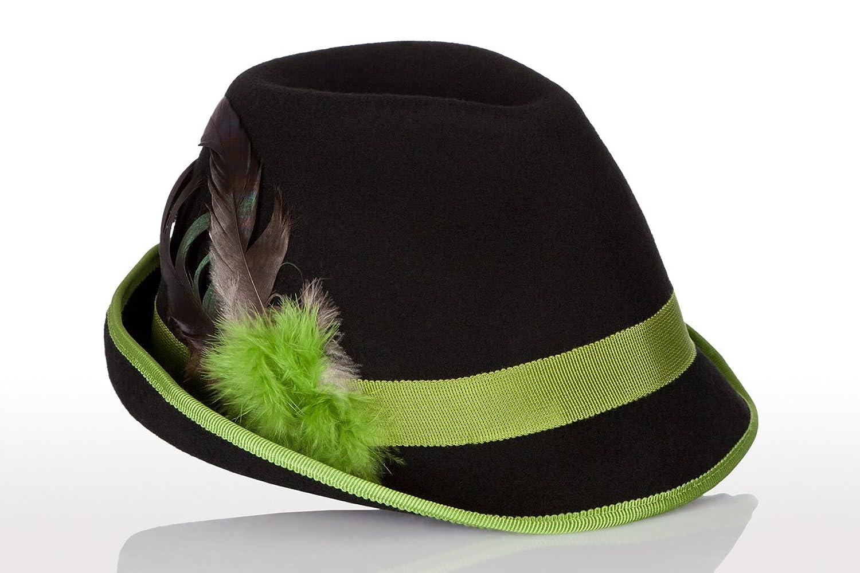 Faustmann Hüte & Mützen Trachten Damen Hut - FEDER - hellgrün Größe 56