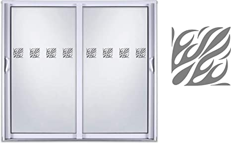 Amazon Com Sliding Door Indicator Safety Film Etched Glass Frosted Vinyl Decal Sticker Design 05 Home Kitchen