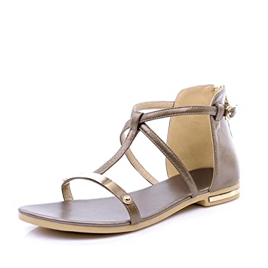 cba0d36be Amazon.com  summer fashion concise women sandals solid color ankle ...