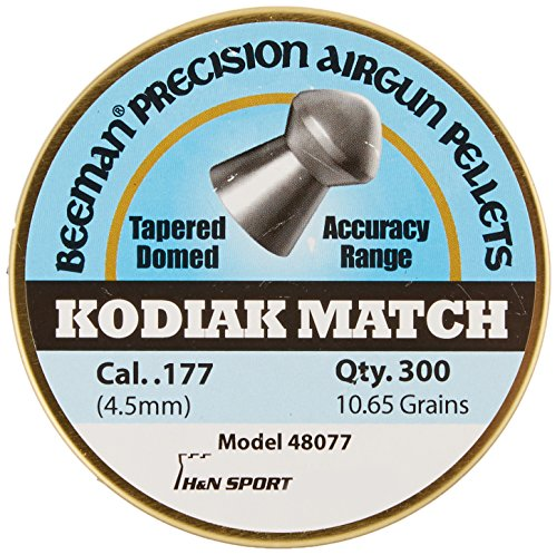 Grain Round Nose 300 - Beeman Kodiak Match Extra Heavy .177 Cal, 10.65 Grains, Round Nose, 300ct