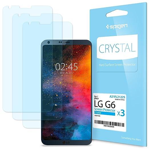 8 opinioni per Spigen® [3 Pezzi] Pellicola Protettiva LG G6, LCD Film [Anti-riflesso