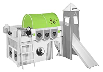 Etagenbett Tunnel Set : Lilokids tunnel dragons grün für hochbett spielbett und