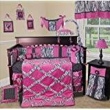 Custom Baby Bedding - (Purple) Zebra Princess 13 PCS Girl Crib Nursery Bedding set