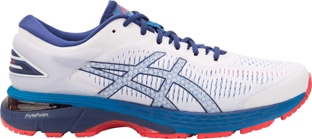 ASICS Gel-Kayano 25 Men's Running Shoe, White/Blue Print, 7 D(M) US by ASICS (Image #1)