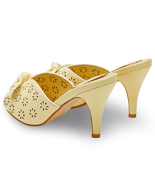 Joe Browns Womens Floral Vintage Slip On Peep Toe Shoes
