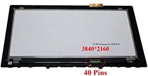 """Bblon 15.6"""" 4K UHD Touch Screen Glass LCD Display Panel Assembly + Bezel for Lenovo Y50-70 (Only for 3840x2160) (Not a Whole Laptop)"""