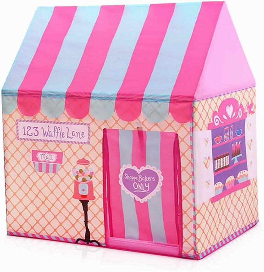 Floving Niñas Playas de Interior al Aire Libre Helados de niños y panadería Comprar Playhouse Palace Tiendas (Rosa)
