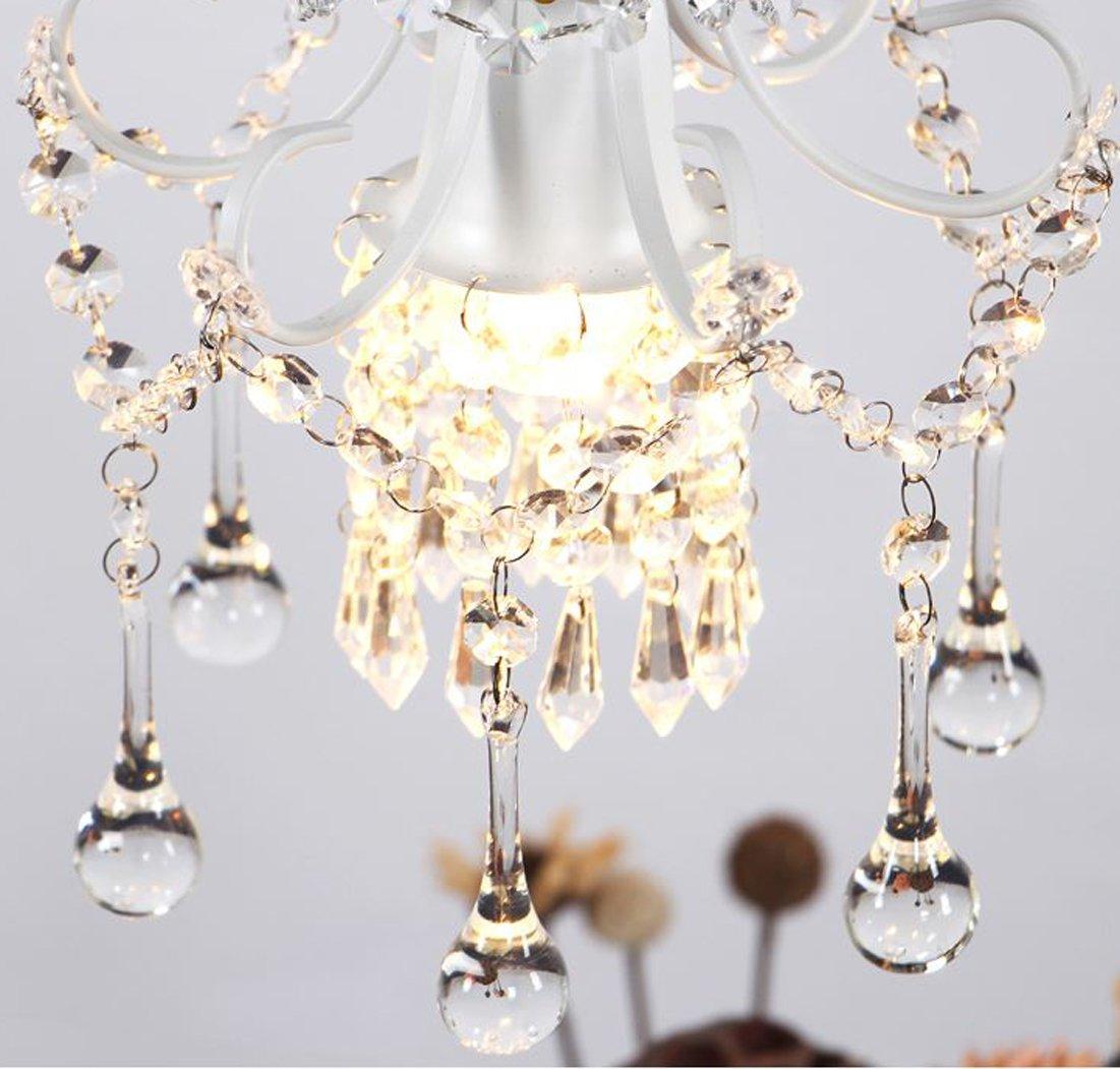 Mini Style Crystal Chandelier Pendant Light White,1-Light by Surpars House (Image #2)