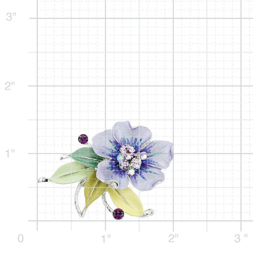 Fantasyard Purple Flower Swarovski Crystal Pin Brooch