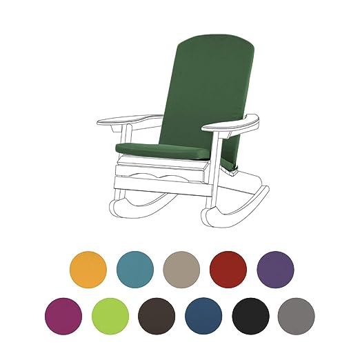 Jardín verde cojín para sillas Adirondack con una cubierta ...