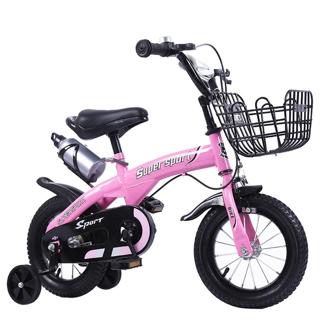 KANGR-子ども用自転車 子供用自転車アウトドアマウンテンバイク2-3-6-8ボーイズとガールズ子供用玩具調節可能ハンドルバー/トレーニングホイール付きサドルウォーターボトルとホルダー-12 / 14/16/18インチ ( 色 : ピンク ぴんく , サイズ さいず : 18 inch ) B07BTMJCFT 18 inch|ピンク ぴんく ピンク ぴんく 18 inch