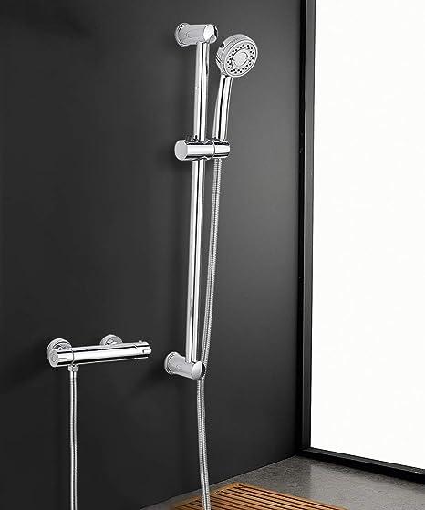 Sistema de ducha con termostato MOCHUAN Plateada 38ºC Termostatica ...