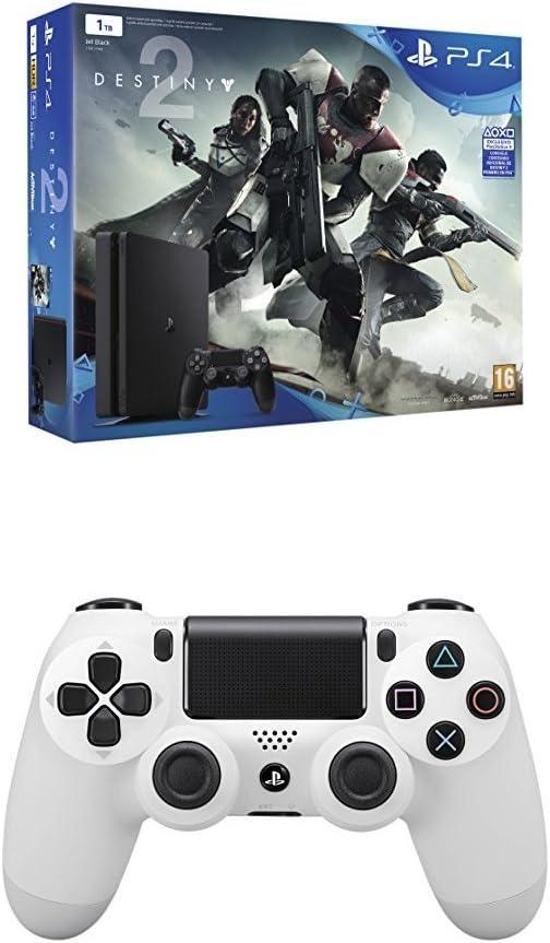 PlayStation 4 - Consola De 1 TB + Destiny 2 + Dualshock 4 V2 Mando ...