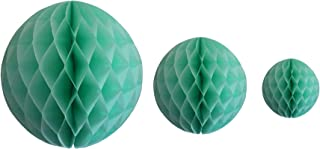 product image for Mint Green Honeycomb Balls, Set of 3 (12 inch, 8 inch, 5 inch)