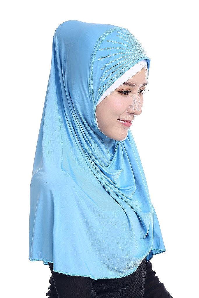 GladThink Mujeres musulmanes de seda del hielo Tamaño grande Hijab
