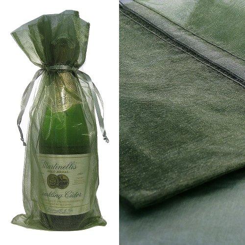 Green Organza Favor Bags (10x Green Bottle & Wine Organza Favor Gift Bags 6.5x15 inch ($0.94 each))