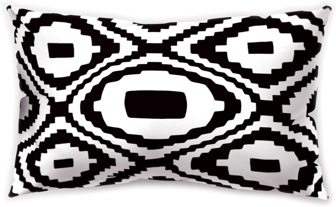 30 x 50 Centimeters Polyester Hengjiang Housse de coussin en peluche /à imprim/é g/éom/étrique /à double face 30 x 50 cm 4 pi/èces a