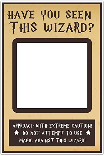 Amazon.com: Have You Seen This WIZARD Selfie Frame Social Media ...