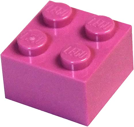 25 to 500 Pieces LEGO Bright Pink Brick 2x4
