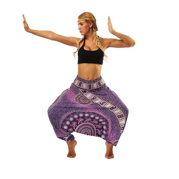 YUTING ✈pantalones Yoga Mujeres Ancho Pantalones de Yoga ...