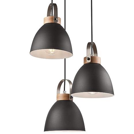 Lámpara colgante Lámpara de techo en metal E27 Lámpara ...