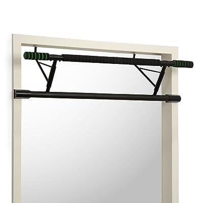 Klarfit In-Door barre de traction • Barre de traction pour cadre de porte • Prise éloignée/rapprochée • Peu encombrant • Sans montage • Acier laqué • max. 130 kg &bull