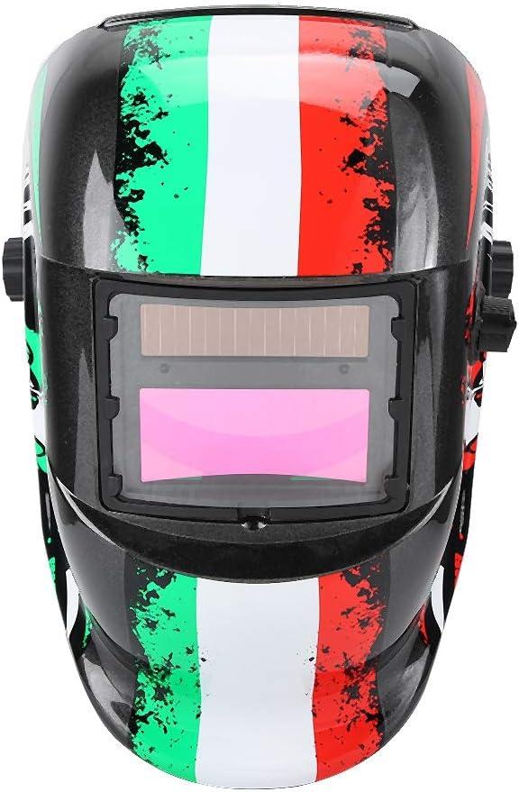 Jacksking Máscara Protectora, a Prueba de luz, protección contra la radiación y Aislamiento térmico, máscara de Casco de Soldadura Solar Protección de Trabajo Ajustable Variable automática