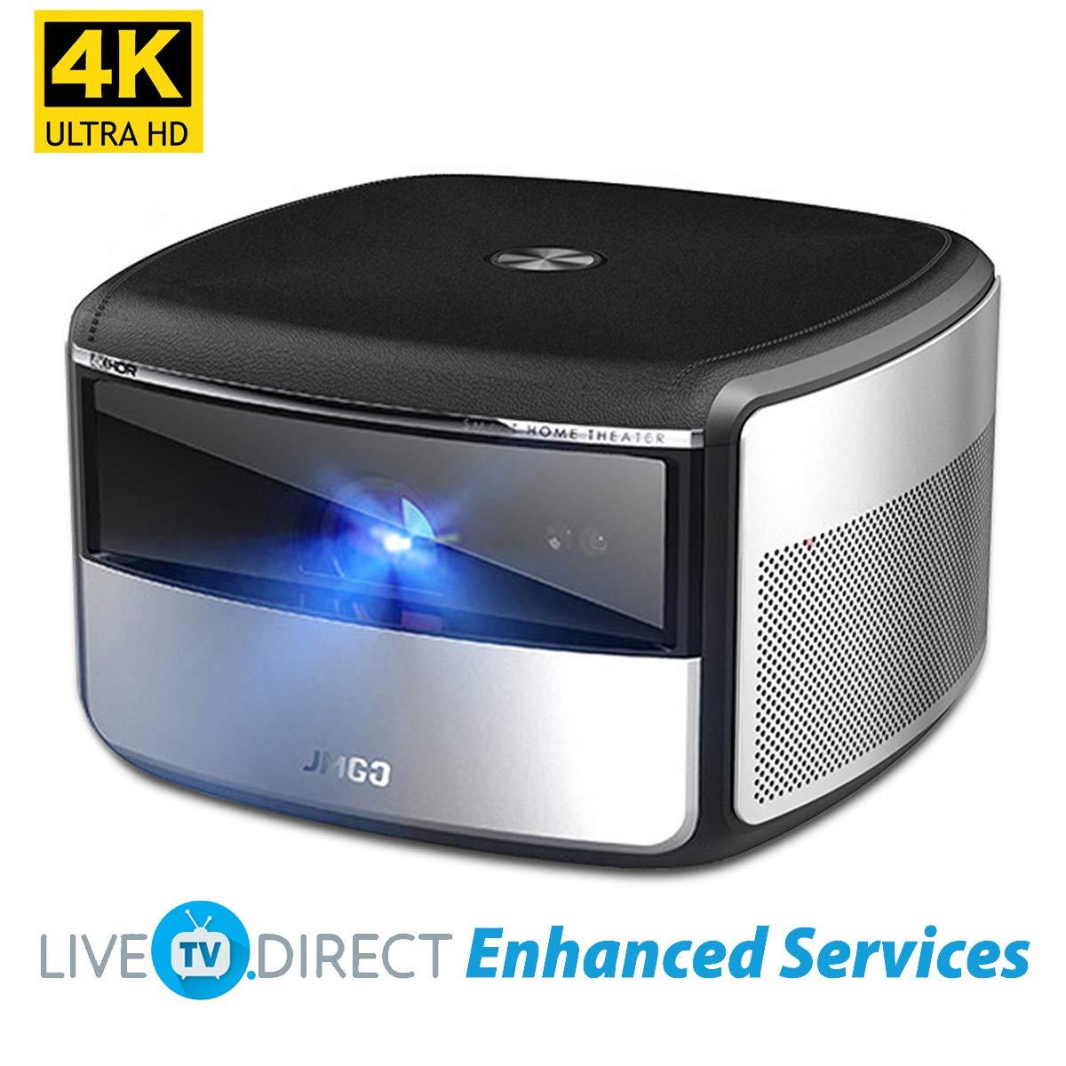 Proyector 4K, LiveTV.Direct Mejorado JmGO X3 Nativo 4K UHD ...