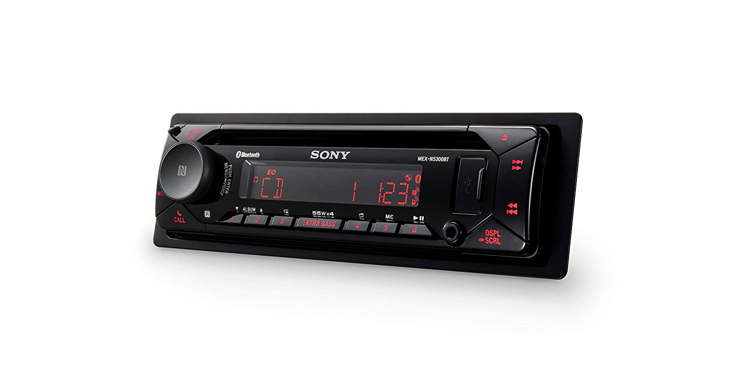 CD Player USB//AUX Sony MEX-N5300BT Car Stereo Single Din Radio with Bluetooth