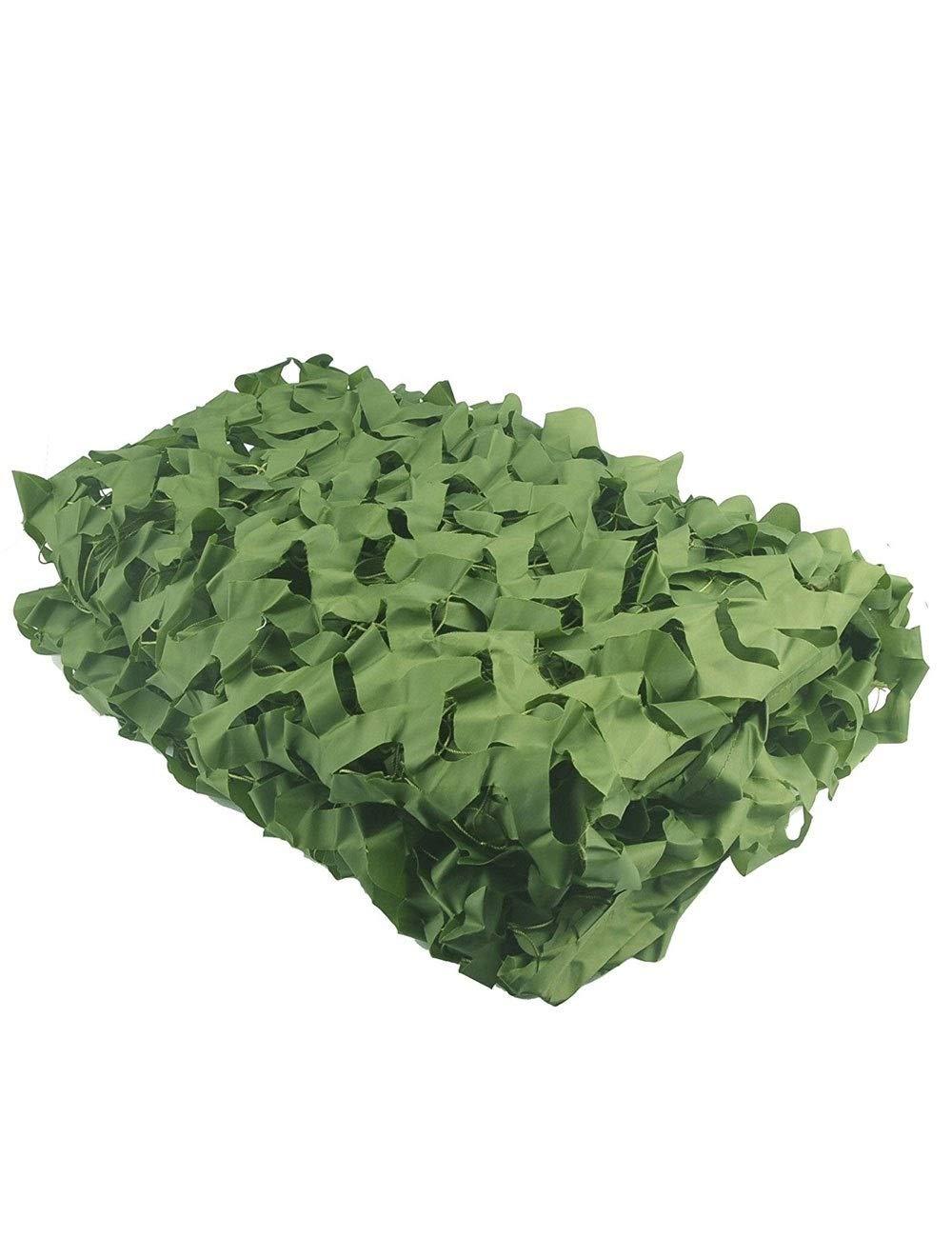 A 3m×3m YAGEER Filet de Camouflage 2 × 3m Camouflage Net Armée De Tir Jungle Vert Camouflage Net Camping Chasse Cachée Militaire boisland Ombrage Net Oxford Tissu Décoration Chambre Garden Party
