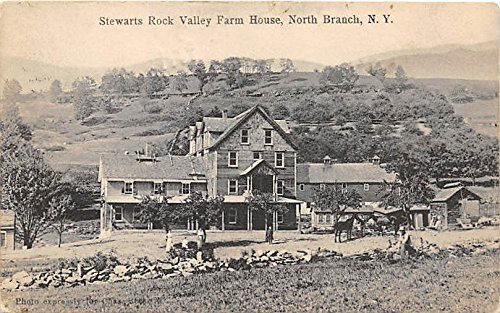 (Stewarts Rock Valley Farm House North Branch, New York, Postcard)