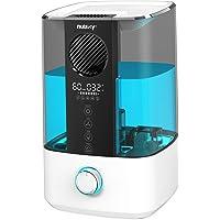Nulaxy Ventilador Superior Humidificador 4,5L con RGB, Humidificador con Alarma Limpieza Humidificador Ultrasónico con…