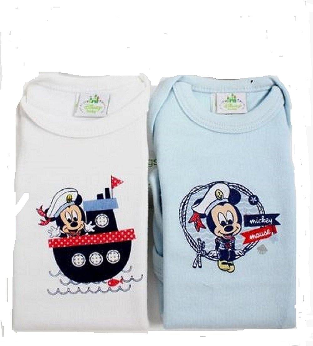 Disney Baby Twinpack Short Sleeve Rompersuit blue (12 months)