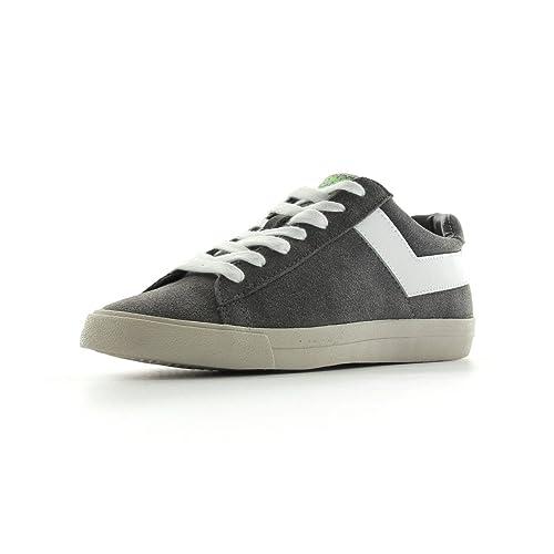Pony Topstar Suede ox - Zapatillas de Deporte de Piel Hombre, Gris (Gris y Blanco), 44 EU: Amazon.es: Zapatos y complementos