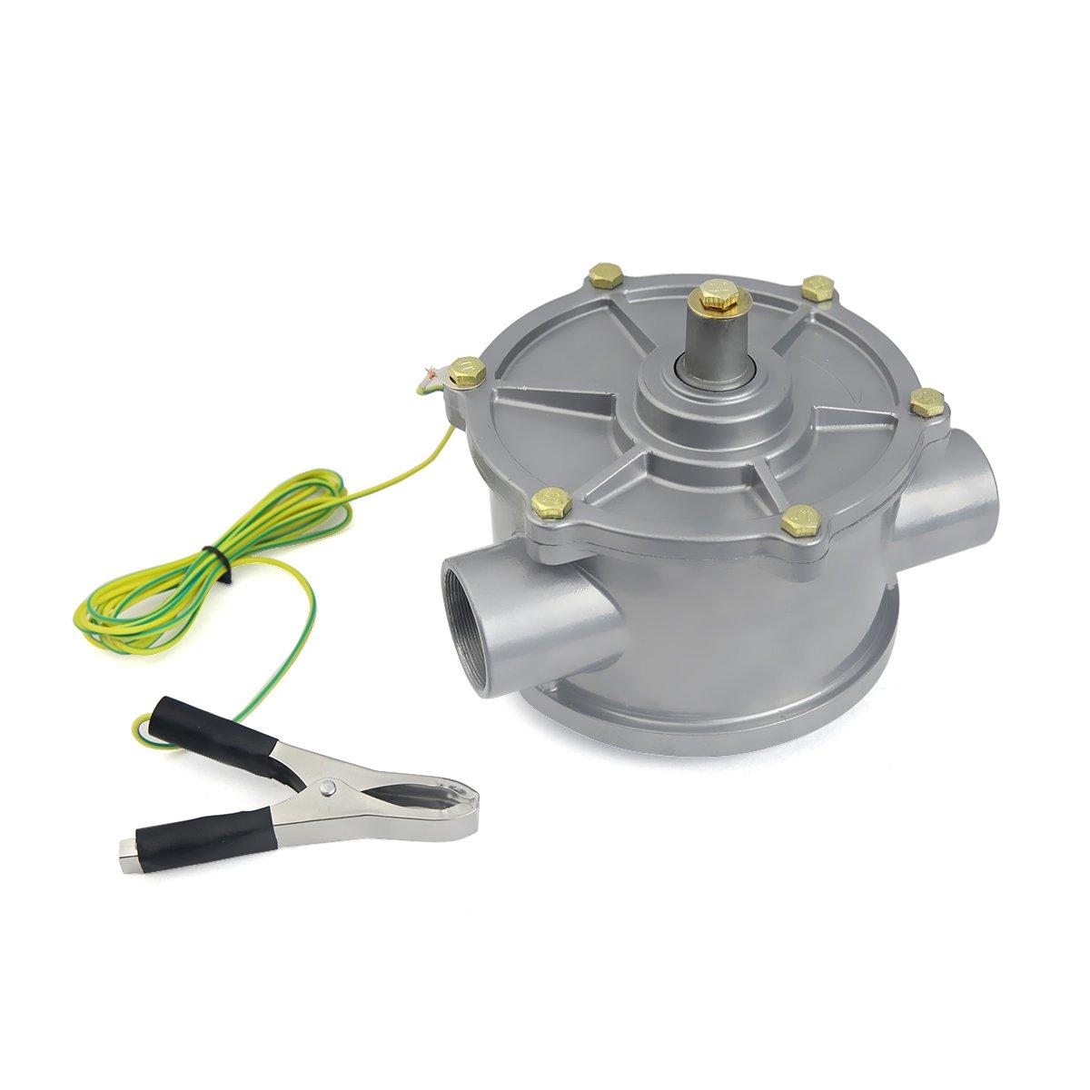 STKUSA 35-Gallon Portable Fuel Transfer Gas Can Caddy Storage Tank 35gal-Capacity Pump w/Wheel by STKUSA (Image #8)