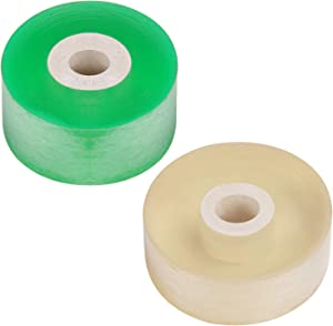 Augshy 2 Pcs Grafting Tape for Tree, Stretchable Plants Repair Tapes with Various Elasticity Floristry Film - Green & Yellow