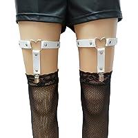 eYLun Women Girls Heart Leg Garter Belt Adjustable Sexy Punk Gothic Elasticity Leg Harness Garter Belts 2pcs