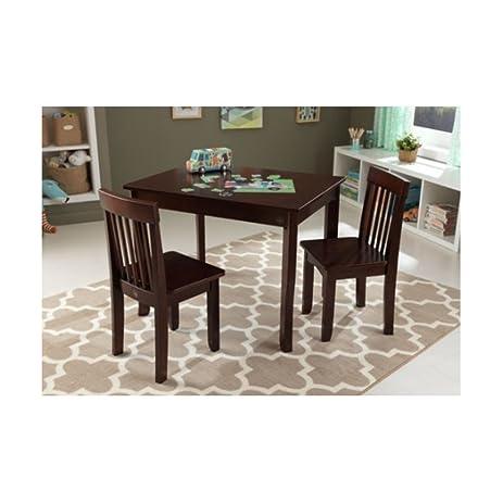 Amazon.com: KidKraft Avalon Kids 3 Piece Rectangular Table and Chair ...