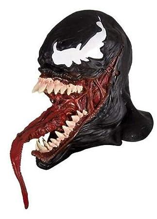 SDT Máscara Halloween Cosplay Venom 2018 para Hombres Adultos de Cabeza Completa Casco Mask con Lengua