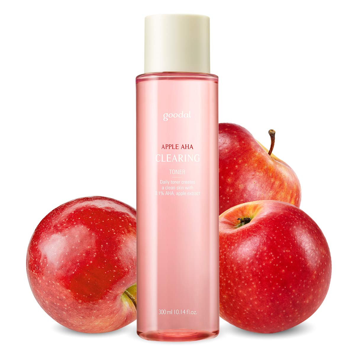 Goodal Apple AHA Clearing Toner for Sensitive Skin | Natural, Gentle, Clarifying, Peeling, Exfoliating, Toning, Pore-Tightening (10.14 fl oz)
