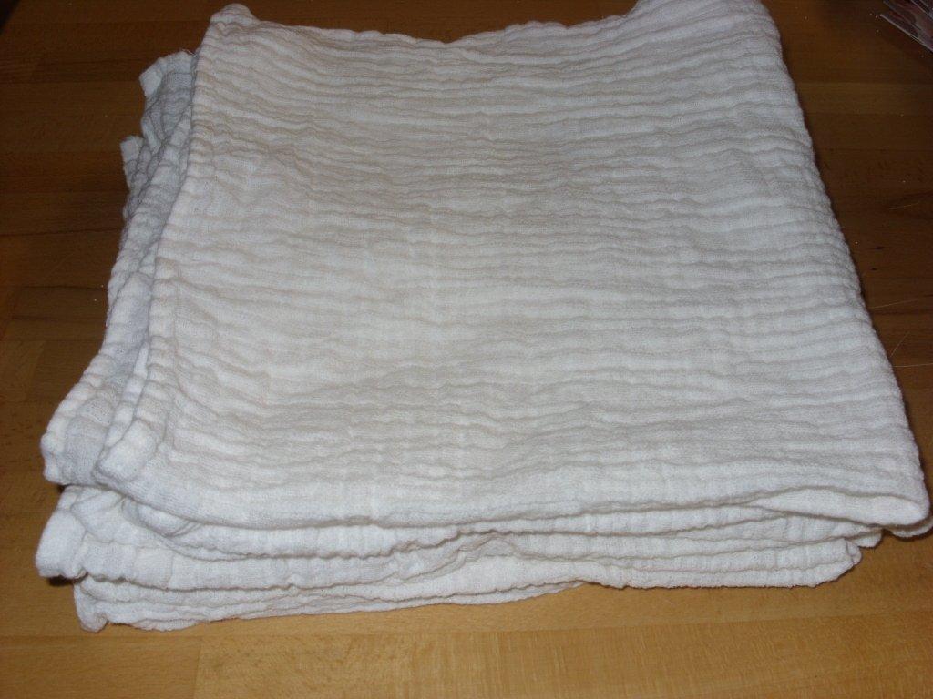 Mullwindeln 48 Stück - Spucktücher - Lätzchen - Unterlage doppelt gewebt 80x80cm