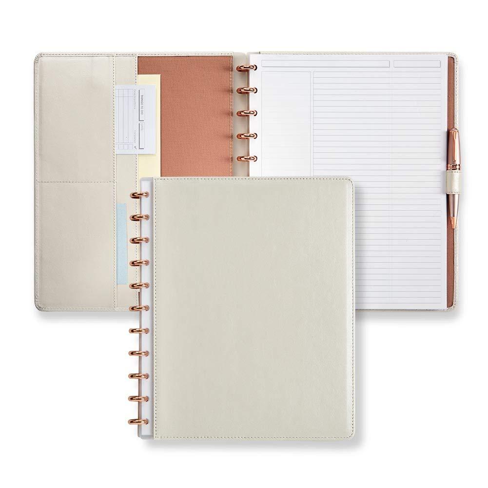 Levenger Circa Elegant Ensemble Pearl White Kit - Letter