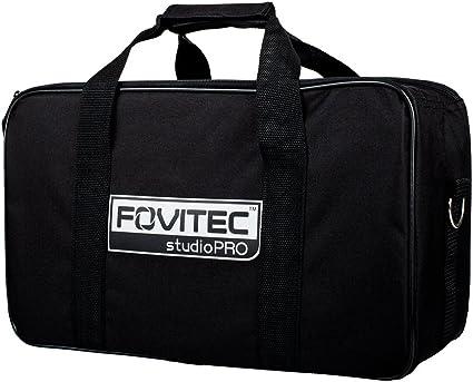 Lightweight 1x Photography /& Video Lighting Equipment Carrying Case - Fovitec 30 x 8 x 6 Heavy Duty Durable Nylon Dual Zippers