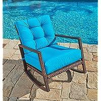 Awe Inspiring Sale Suncrown Outdoor Furniture Teal Patio Rocking Chair Machost Co Dining Chair Design Ideas Machostcouk