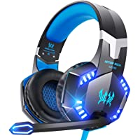 VersionTECH. G2000 Gaming Headset for PS5, PS4, PC, Xbox One, Surround Sound Over Ear Headphones with Mic, LED Light for…