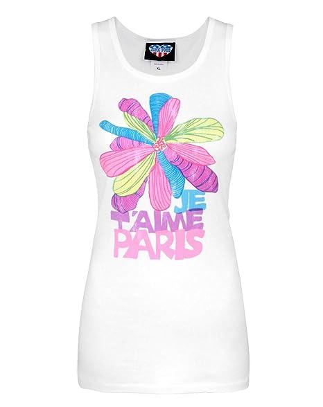 Amazon.com: Comida chatarra je t aime Paris Mujeres Tank ...