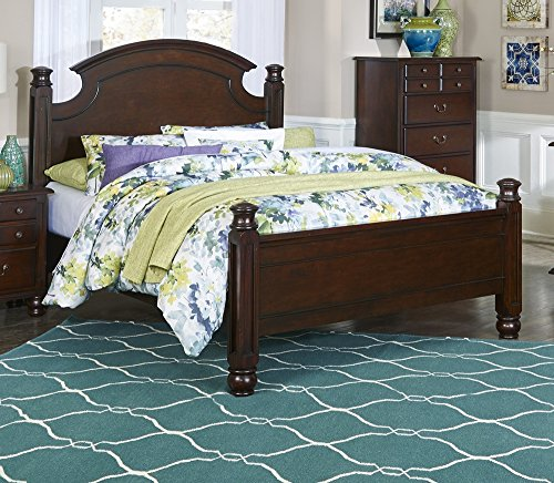 Homelegance Traditional Bed - Frederica Dark Cherry Wood Poster King Bed by Homelegance