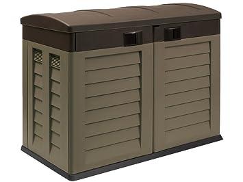 Caseta de jardín de plástico caja de almacenamiento para basura herramientas tommyca libre de óxido: Amazon.es: Jardín