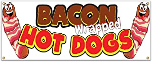 SignMission Bacon Wrapped Hot Dogs 48